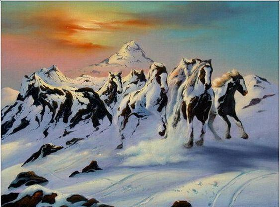 Тест по картинкам: горы или лошади
